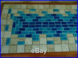 Mid Century rare Italy mosaic tile Vladimir Kagan style coffee table
