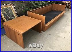 N. Eilersen Denmark Danish Modern Teak Case Sofa Couch MID Century Modern Rare