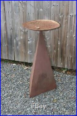 Original Vtg Metal Mid Century Modern Art Outdoor Lawn Sculpture BIRDBATH Rare