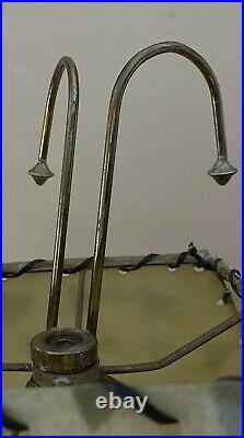 PR Atomic MCM Chalkware Lamps With Fiberglass Shades Table Lamps RARE SIGNED