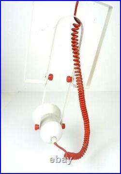 Pair Original Italian Vintage Rare Original 80s Memphis Sottsass Ceiling Lamps