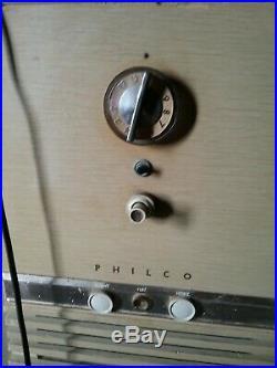 Philco predicta television Rare blonde barber pole style Mid century Modern