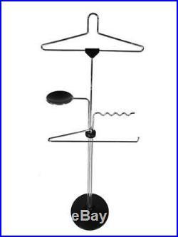 Postmodern Valenti Cusago Milano Valet Italy Coat Rack Hanger 1980's Chrome RARE