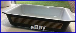 Pyrex 1958 Rare Musical Staff 575B Space Saver Casserole Dish 2 QT Black Matte