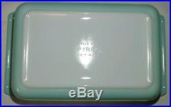 Pyrex Atomic Starburst Space Saver 575-B RARE 2Qt Turquoise Aqua EVC