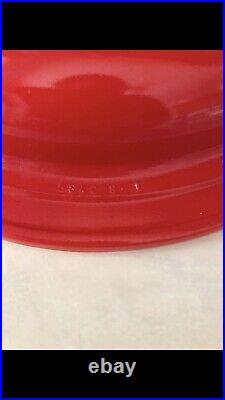 Pyrex Extremely Rare Red 221 Cake Dish With Matching Lid