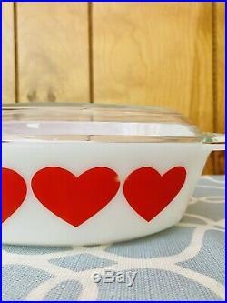 Pyrex JAJ Rare Hearts 524 Casserole