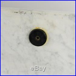 RARE 1956 George Nelson Herman Miller Dresser Cabinet Walnut Marble Black Frame