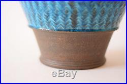 RARE 29,5 cm Kahler HAK Denmark HUGE Bowl Turquoise Nils Danish pottery Denmark