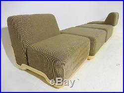 RARE 5pc Harvey Probber Reconfigurable Modular Sectional Sofa Mid Century Modern