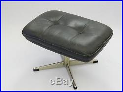 RARE 60's HANS BRATTRUD HOVE MOBLER ROSEWOOD SCANDIA SWIVEL LOUNGE CHAIR OTTOMAN