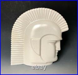 RARE ABINGDON Art Deco Trojan Warrior Roman Soldier Mid Century Modern Head Vase