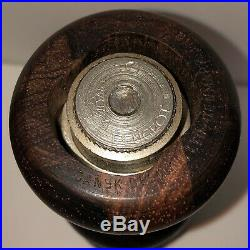 RARE Dansk Silver-Plated Rare Wood Pepper Mills-Quistgaard Design -Denmark IHQ