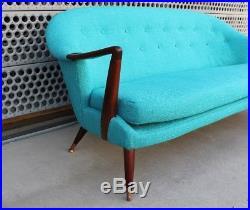 RARE Fredrik Kayser For Rastad & Relling Sofa Mid Century Modern Norway