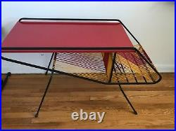 RARE French 1950s lacquer iron and string table eames mid century modern mategot
