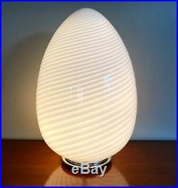 RARE GIANT 26 MID-CENTURY MODERNIST 70s VISTOSI MURANO OVOID EGG LAMP GLASS
