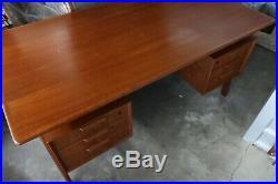 RARE Gunni Omann Jun Model 75 Writing Desk Vintage MidCentury Modern Danish Teak