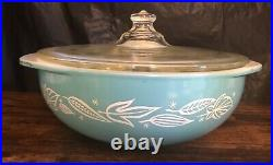 RARE HTF Pyrex 024 BLOWING LEAVES Casserole MAGNIFICENT