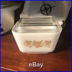 RARE HTF Vintage PYREX SANDALWOOD Refrigerator Dish 501 WithLID