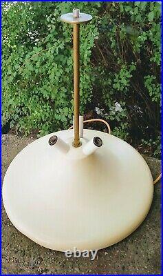 RARE ITALIAN VINTAGE Gaetano Missaglia mid century modern mushroom / dome lamp