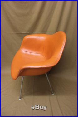 RARE Late 50's Eames Herman Miller Charles Eames Vinyl DAX Orange Armshell (1)