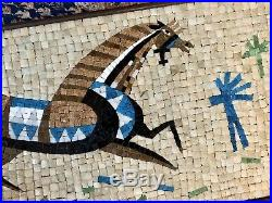 RARE MCM 1957 Evelyn Ackerman Era Industries Original Mosaic Gallant Horse