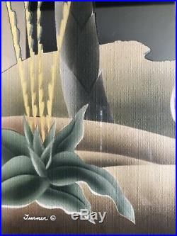 RARE MCM Mid-Century Modern Turner Wall Mirror Shelf Shadowbox 36 Flamingos