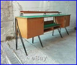 RARE MID CENTURY GIO PONTI ICO PARISI LONG SIDEBOARD CREDENZA Italy 1950s