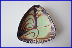 RARE Marianne Starck triangular bowl Rooster Persia M Andersen Danish pottery