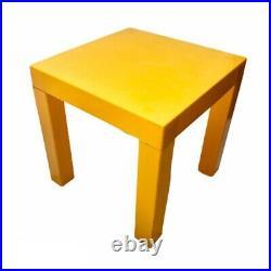 RARE Mid-Century Mod Sunburst Yellow High Gloss Parsons Table Vintage Retro