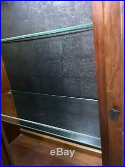 RARE Mid Century Modern Brutalist Pulaski Oceanic Top Curio Cabinet Hutch Witco