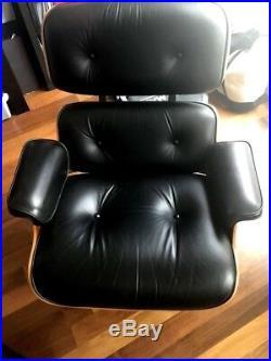 RARE! PRISTINE! Eames Chair+Ottoman 50th Anniversary Edition Cherry/BLK LEATHER