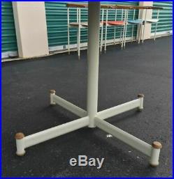 RARE Prototype Mid Century Mod Heywood Wakefield Circular Laminated Walnut Table