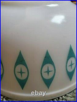 RARE Pyrex ATOMIC EYE Promotional 8 3/4 Mixing Bowl Very Nice