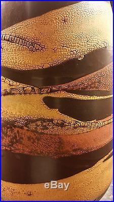 RARE! Royal Haeger Pottery Earth Wrap Lamp Mid-Century Danish Modern Decor