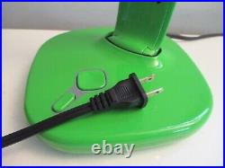 RARE Space Age Design Lux Ribbon Tunable White Light Lime Green Desk Lamp Nice