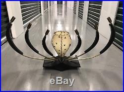 RARE VTG 50s MAJESTIC LAMP FIBERGLASS SHADES MID CENTURY MODERN RETRO Octopus