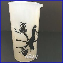 RARE VTG 60s HALLOWEEN Friendly Spirits FEDERAL GLASS MARTINI BARWARE SET 5pc