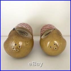 RARE Vintage BITOSSI Ceramic POTTERY Large OWL Figures SALT Pepper SHAKERS Italy