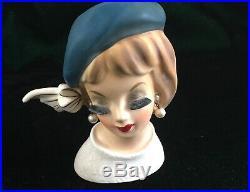 RARE! Vintage ENESCO DEMURE GIRL LADY HEAD VASE Headvase