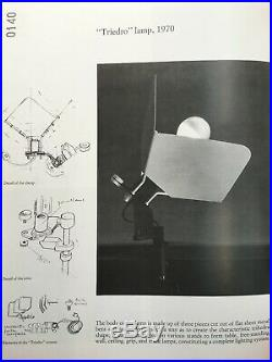 RARE Vintage Joe Colombo'Triedro' Clamp Lamp for Stilnovo Space Age MCM 1970