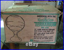 RARE Vintage MCM Mid Century Modern Tiara Casa #340 Terrarium Garden MINT in Box