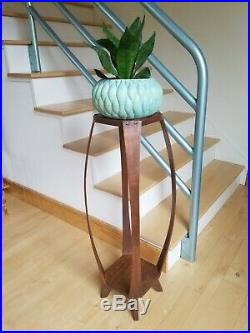 RARE Vintage Mid-Century/Danish Modern BENT Wood PLANT STAND ART/Fern Table 34