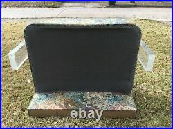 RARE Vintage Mid Century Modern VLADIMIR KAGAN Acrylic LUCITE Love Seat Settee