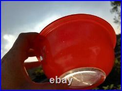 RARE Vintage Pyrex CHRISTMAS 1L Bowl Red #322 HTF SEASONS GREETINGS