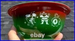 RARE Vintage Pyrex CHRISTMAS 1L Bowl Red Green #322 HTF SEASONS GREETINGS