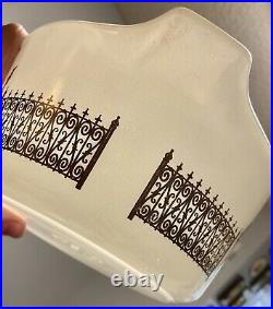 RARE Vintage Pyrex Golden Gates Casserole Dish with Cradle and Lid HTF