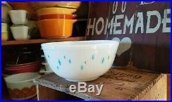 RARE Vtg PYREX Aqua Turquoise Blue DIAMOND 2 Qt Mixing Bowl(Not Marked)