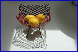 Rare 1950s Mid Century Modern Fruit Wire Basket Atomic Eames Pierre Guariche Era