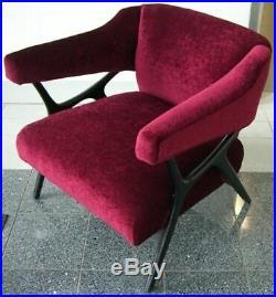 Rare 1958 Ward Bennett Kagan Style Chair Danish Mid Century Modern Eames Era